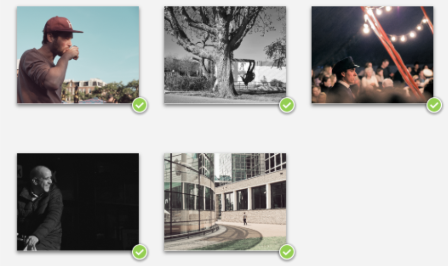 Overzicht foto's straatkalender